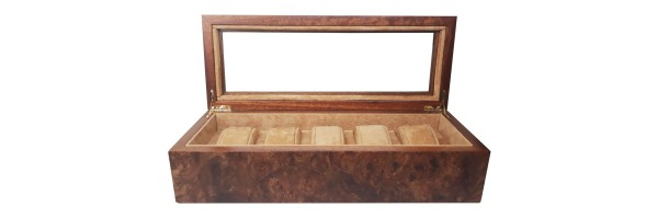 Watch Case - Radica wood - 5 seats
