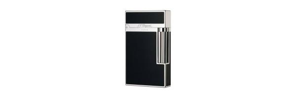 Dupont - 016296 - 2 Line Lighter - Black Laquer and Palladium