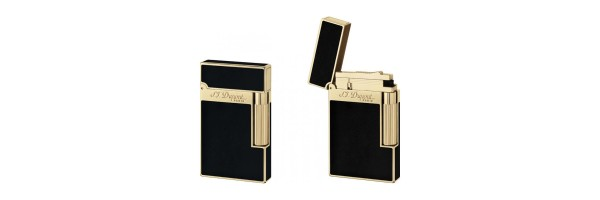 Dupont - 016884 - 2 Line Lighter - Black Laquer and Gold