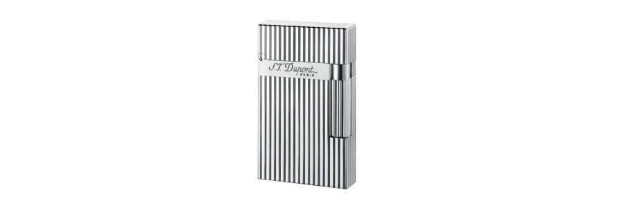 Dupont - 016817 - 2 Line Lighter - Silver Plated