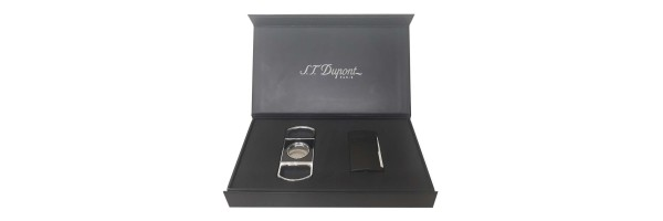Dupont - Set Lighter Maxijet and Cigar Cutter - Matt Black