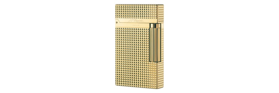 Dupont - 016284 - 2 Line Lighter - Gold Plated