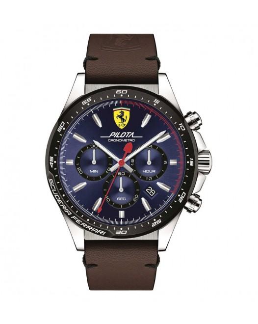 Orologio - Scuderia Ferrari -  Cronografo Pilota - Quadr. Blu