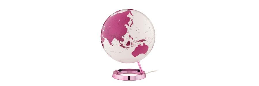 Atmosphere - Illuminated Globe - Hot Pink