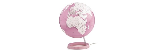 Atmosphere - Illuminated Globe - Coral