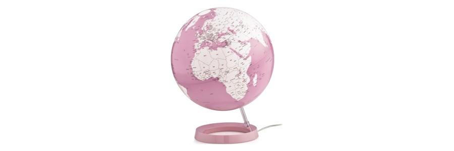 Atmosphere - Illuminated Globe - Coral