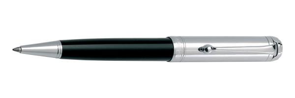 Aurora - Talentum - Glossy Black and Cap Chrome - Ballpoint Pen