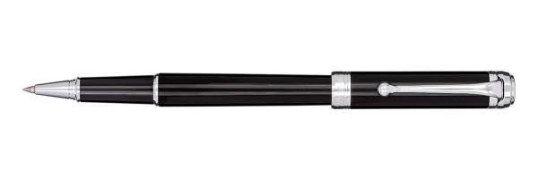 Aurora - Talentum - Glossy Black and Chrome - Finesse Rollerball Pen