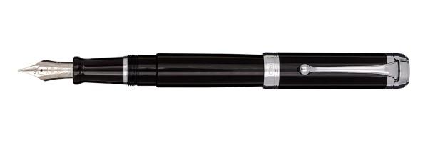 Aurora - Talentum - Glossy Black and Chrome - Big Fountain Pen