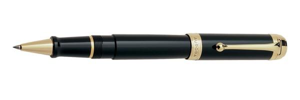 Aurora - Talentum - Glossy Black and Gold - Big Rollerball Pen