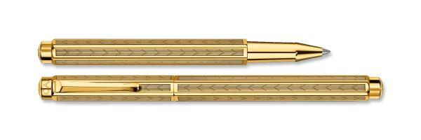 Caran d'Ache - Ecridor - Chevron Gold Plated - Rollerball Pen