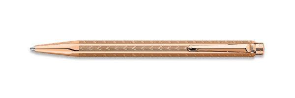 Caran d'Ache - Ecridor - Chevron Rose Gold Plated - Ballpoint Pen