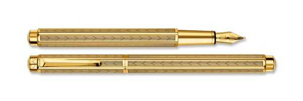 Caran d'Ache - Ecridor - Chevron Gold Plated - Fountain Pen
