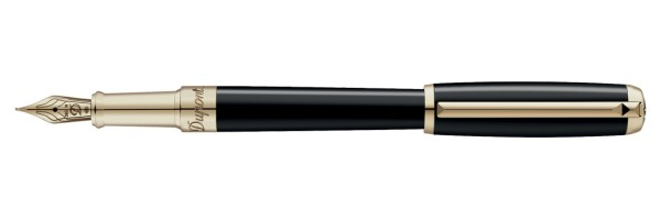 Dupont - LINE D - Lacca Nera Oro - Stilografica Media