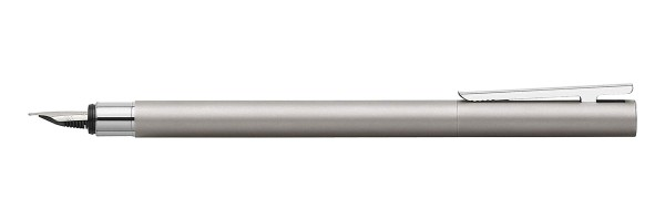 Faber Castell - Neo Slim - Fountain Pen - Brushed Steel