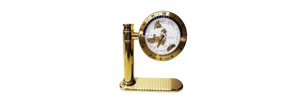 Jaccard - Table Clock - Mondial Gold White