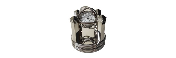 Jaccard - Table Clock - Santos Silver