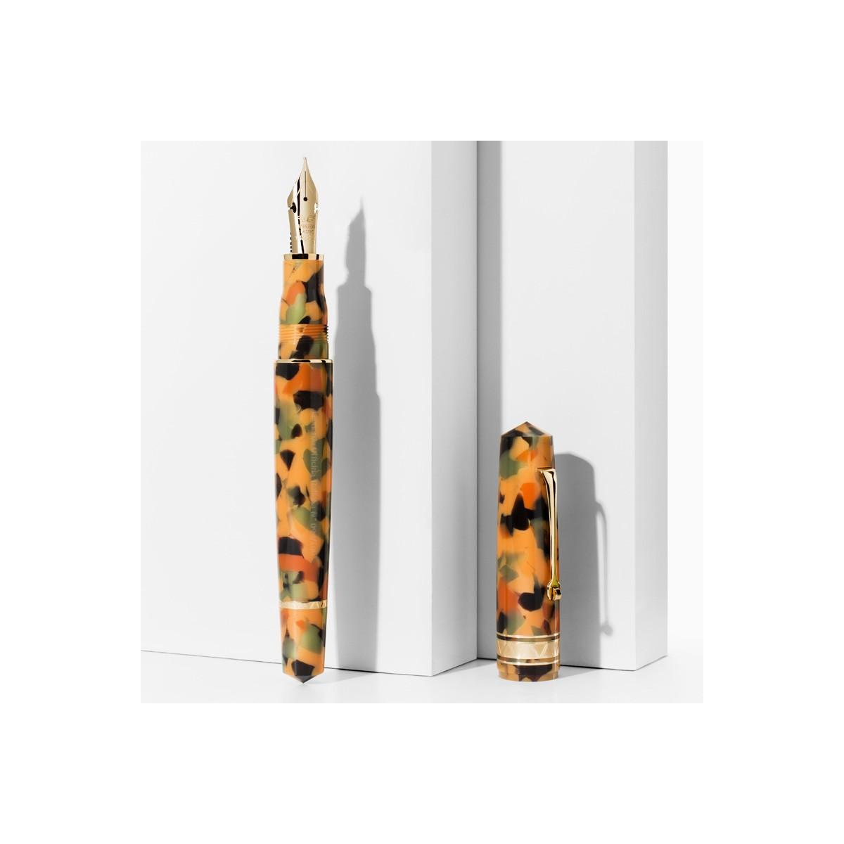 Leonardo Officina Italiana - Momento Zero Grande Arlecchino - Rhodium trims - Fountain pen