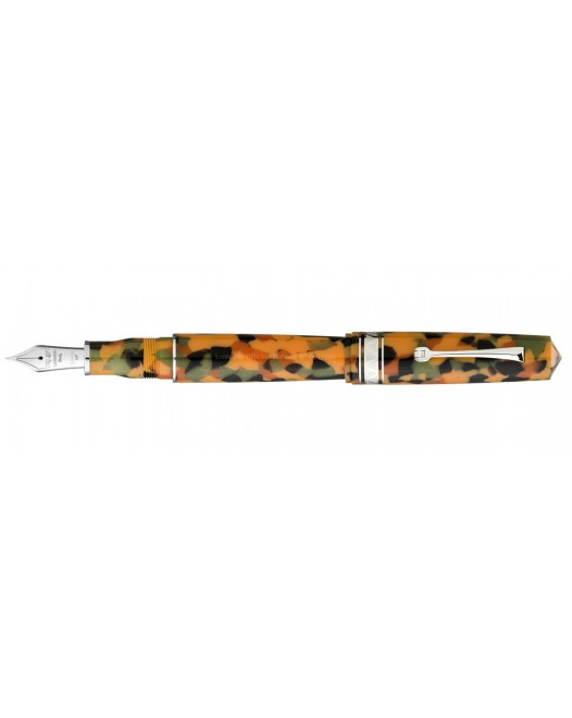 Leonardo Officina Italiana - Momento Zero Grande Arlecchino - Rhodium trims - Fountain pen