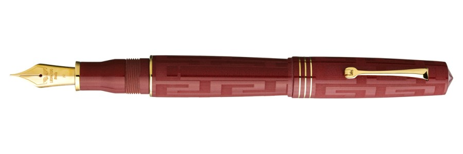 Leonardo Officina Italiana - Momento Zero Grande Art Dèco Red - Fountain pen - 14kt. Gold Nib