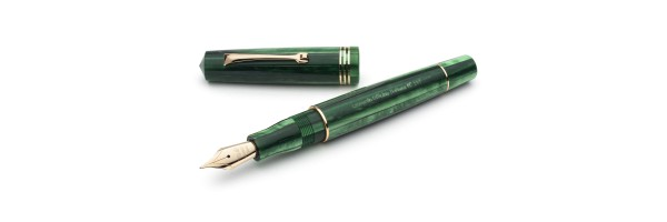 Leonardo Officina Italiana - Momento Zero resin - Green Alga GT - Fountain pen - Steel nib
