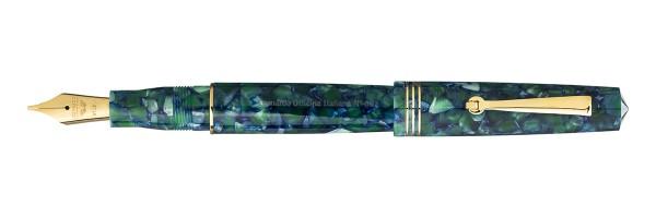 Leonardo Officina Italiana - Momento Zero 2020 - Green and Blue GT - Fountain pen - Steel nib