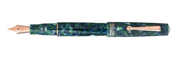 Leonardo Officina Italiana - Momento Zero 2020 - Green and Blue RG - Fountain pen - Steel nib