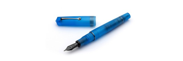 Leonardo Officina Italiana - Momento Zero Pura Ruthenium Aqua Blue - Fountain pen - Steel nib