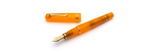 Leonardo Officina Italiana - Momento Zero Pura Gold Flame Orange - Fountain pen - Gold plated nib