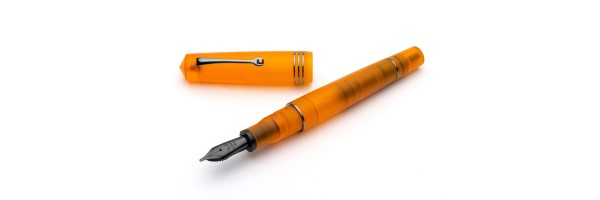 Leonardo Officina Italiana - Momento Zero Pura Ruthenium Flame Orange - Fountain pen - Steel nib
