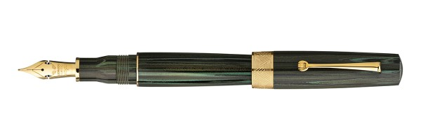 Leonardo Officina Italiana - Speranza - Green Ebonite Fountain pen - Gold Plated trims - Musical Nib