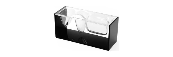 Lexon - Crystal - Desktop organizer - Liquid Station - Black