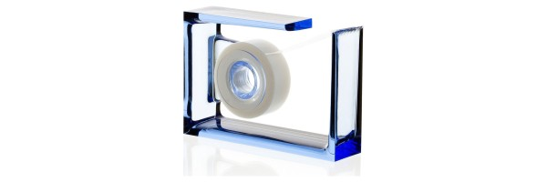 Lexon - Crystal - Desk tape dispenser - Roll-Air - Blue