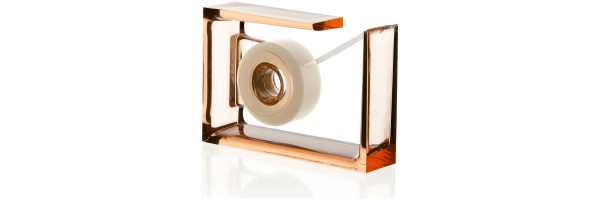 Lexon - Crystal - Desk tape dispenser - Roll-Air - Orange