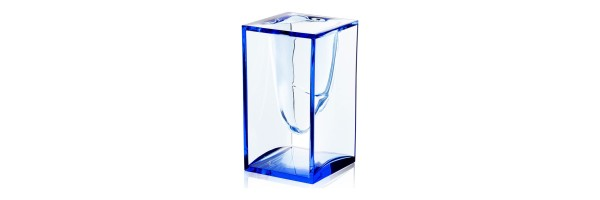 Lexon - Crystal - Pen Cup - Liquid Pot - Blue