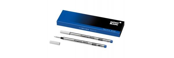 Montblanc - 2 x Refill Fineliner - Pacific Blu (Blu) M ( Medio )