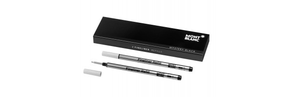 Montblanc - 2 x Refill Fineliner - Mystery Black (Nero) M ( Medio )