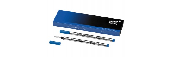 Montblanc - 2 x Refill Roller - Pacific Blue (blu) F ( Fine )