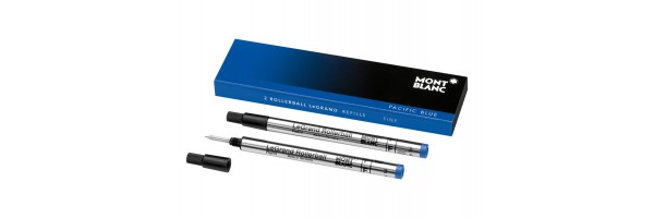 Montblanc - 2 x Refill Roller LeGrand - Pacific Blue (Blu) F ( Fine )