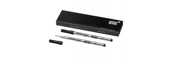 Montblanc - 2 x Refill Roller - Mystery Black (nero) M ( Medio )
