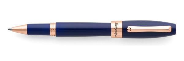 Montegrappa - Fortuna - Rose Gold & Blue Rollerball Pen