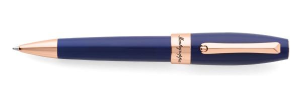 Montegrappa - Fortuna - Rose Gold & Blue Ballpoint Pen