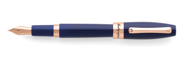 Montegrappa - Fortuna - Rose Gold & Blue Fountain Pen