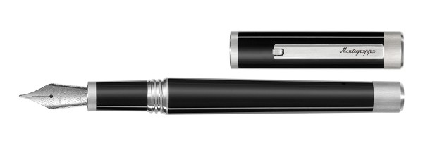 Montegrappa - Zero - Fountain Pen Gold Nib - Black Palladium