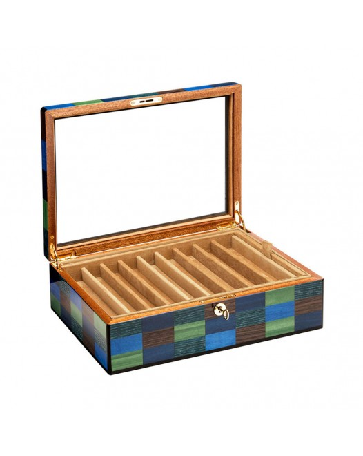 Pen Case - Cannaregio wood 18 seats - with glass