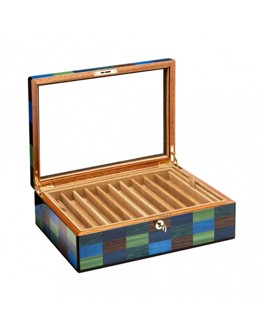 Pen Case - Cannaregio wood 20 seats - with glass