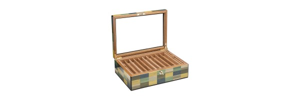 Pen Case - Mestre wood 20 seats - with glass