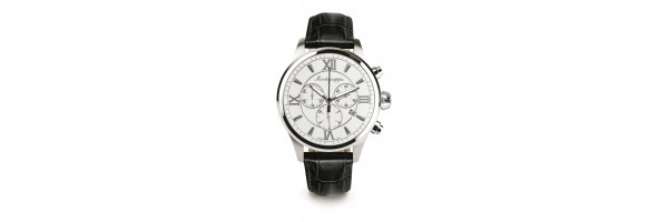 Montegrappa - Watch - Chronograph Fortuna - Steel Silver - Black