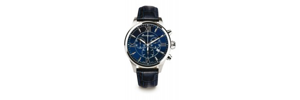 Montegrappa - Watch - Chronograph Fortuna - Steel Blue - Blue