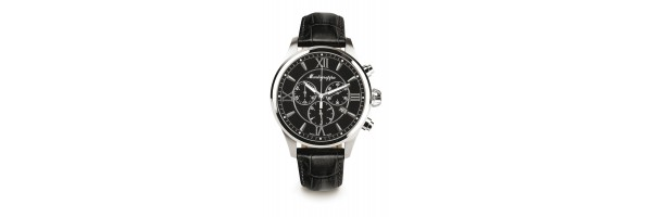 Montegrappa - Watch - Chronograph Fortuna - Steel Black - Black